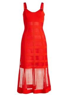 Alexander McQueen Silk Dress with Sheer Skirt