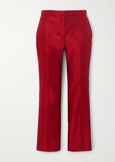 Alexander McQueen Silk-satin Straight-leg Pants