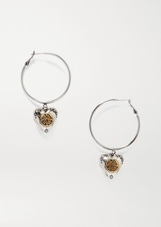 Alexander McQueen Silver- And Gold-tone Hoop Earrings