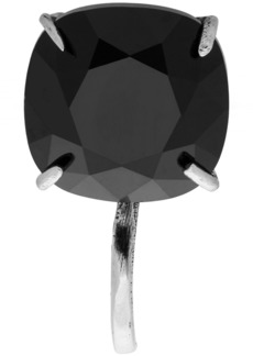 Alexander McQueen Silver & Black Crystal Brooch Earring