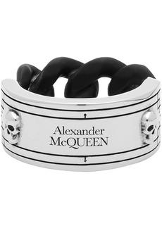Alexander McQueen Silver & Brass Identity Chain Ring