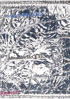 Alexander McQueen Silver Bifold Wallet