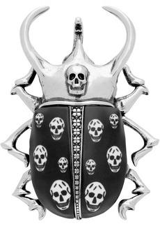Alexander McQueen Silver Brass Skull Brooch