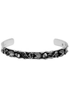Alexander McQueen Silver Dancing Skeleton Bracelet