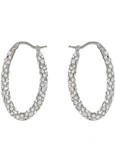 Alexander McQueen Silver Jewelled Earrings