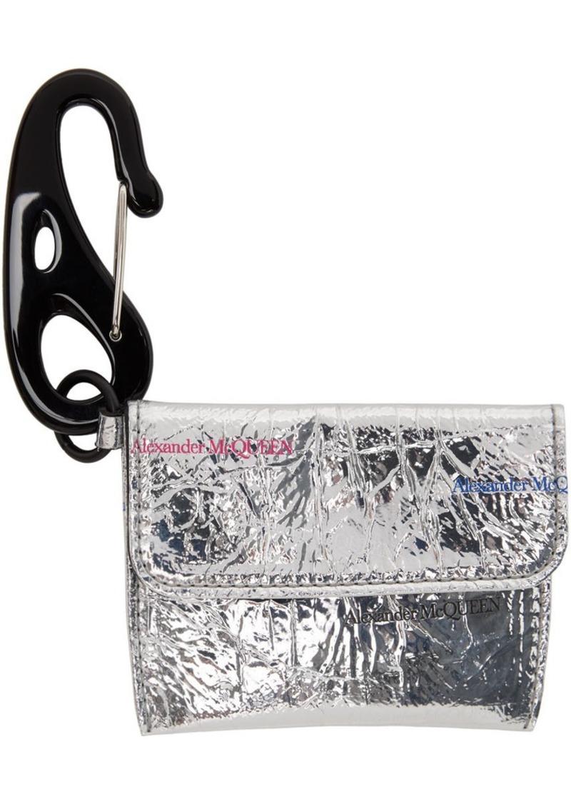 Alexander McQueen Silver Keyring Card Holder