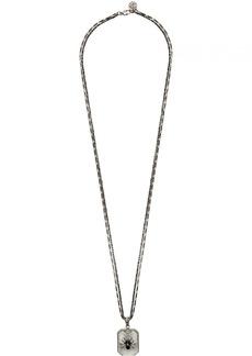 Alexander McQueen Silver Resin Spider Necklace