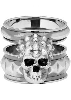 Alexander McQueen Silver Snake Ring