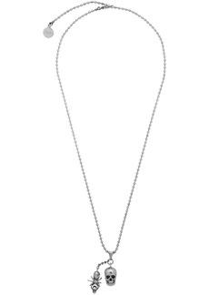 Alexander McQueen Silver Spider & Skull Necklace
