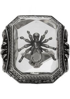 Alexander McQueen Silver Spider Resin Ring
