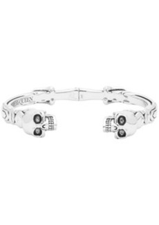 Alexander McQueen Silver Twin Skull Cuff Bracelet