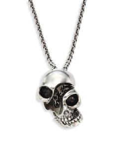 Alexander McQueen Silvertone Brass Skull Pendant Necklace