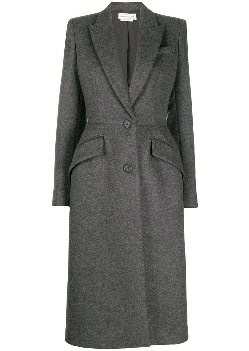 Alexander McQueen single breasted fitted coat