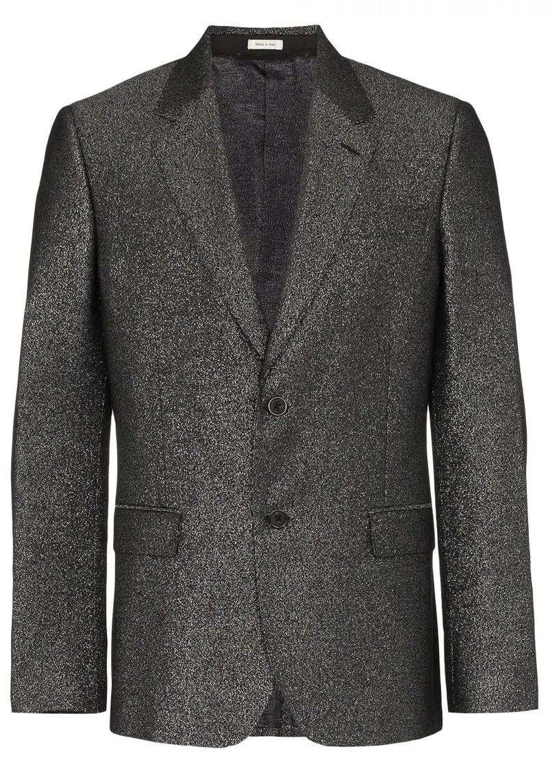 Alexander McQueen single-breasted sparkle 2B blazer
