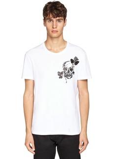 Alexander McQueen Skull & Floral Embroidered T-shirt