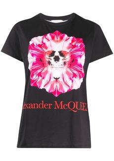 Alexander McQueen skull and flower print T-shirt