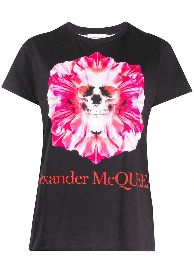 Alexander McQueen skull and flower print T-shirt