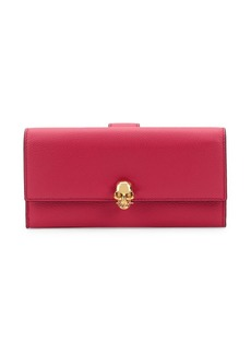 Alexander McQueen Skull-Embellished Leather Continental Wallet