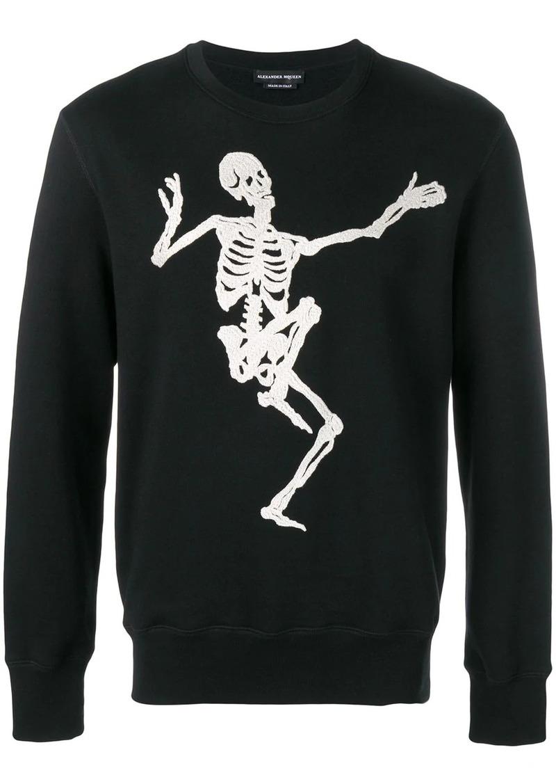Alexander McQueen skull embroidered sweatshirt