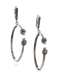 Alexander McQueen Skull Hoop Earrings