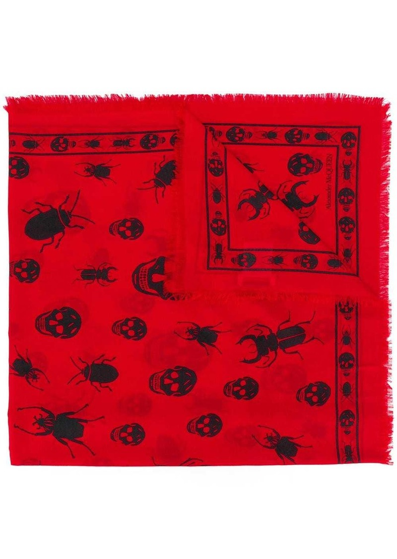 Alexander McQueen skull insect scarf