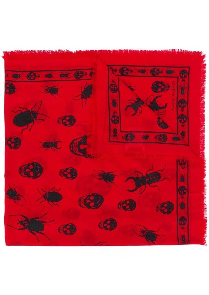 Alexander McQueen skull insect scarf