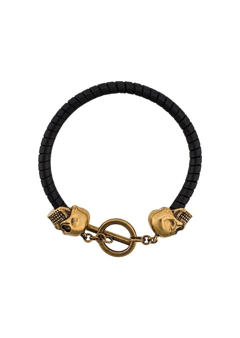 Alexander McQueen Skull leather bracelet