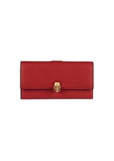 Alexander McQueen Skull Leather Continental Wallet