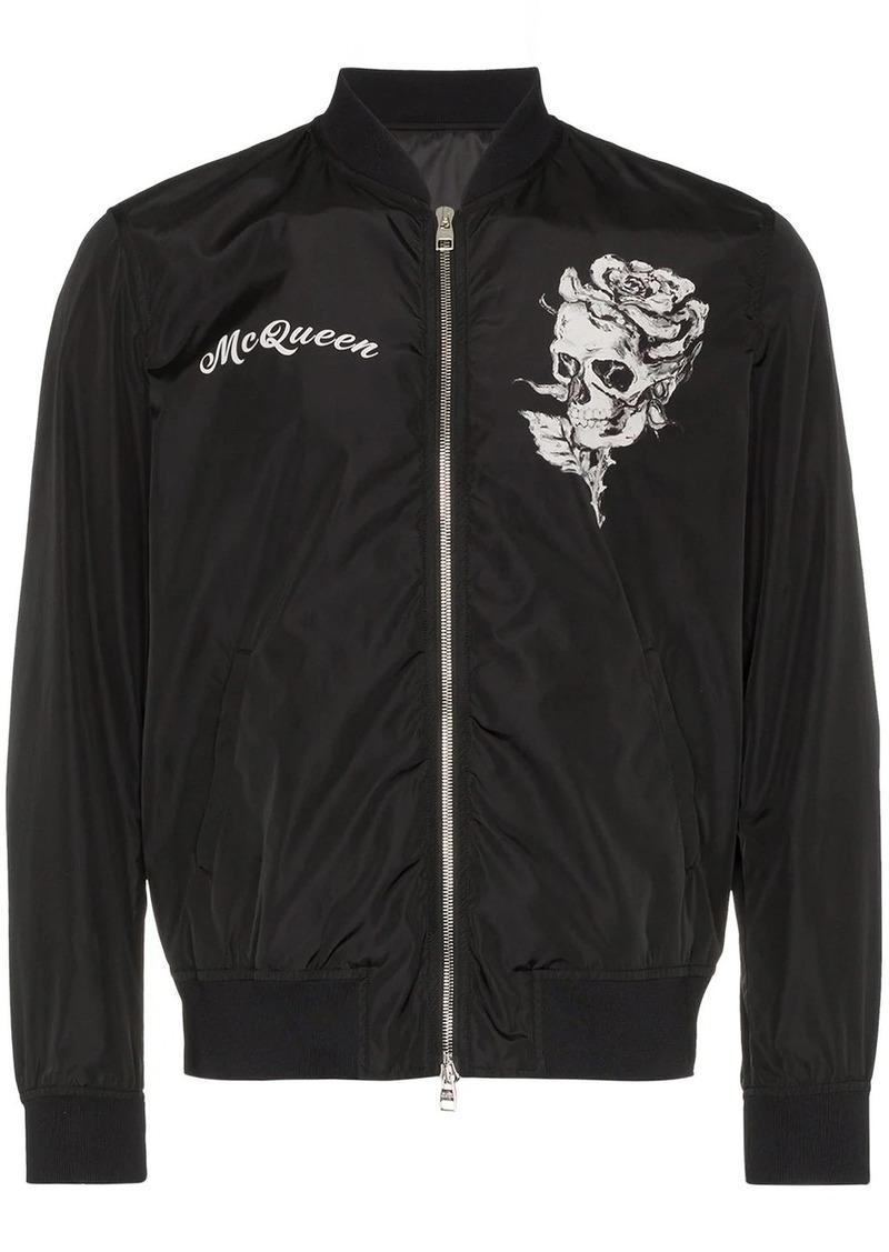 Alexander McQueen skull logo bomber jacket