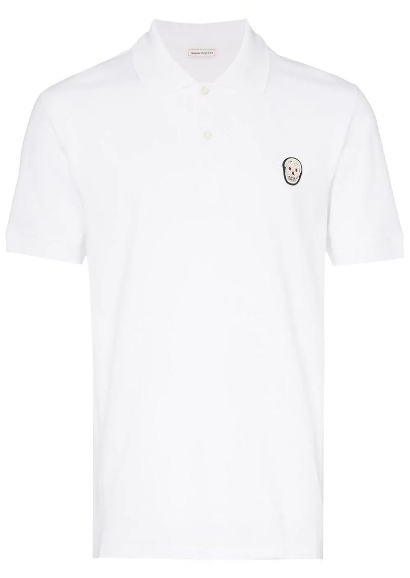 Alexander McQueen Skull logo-embroidered polo shirt