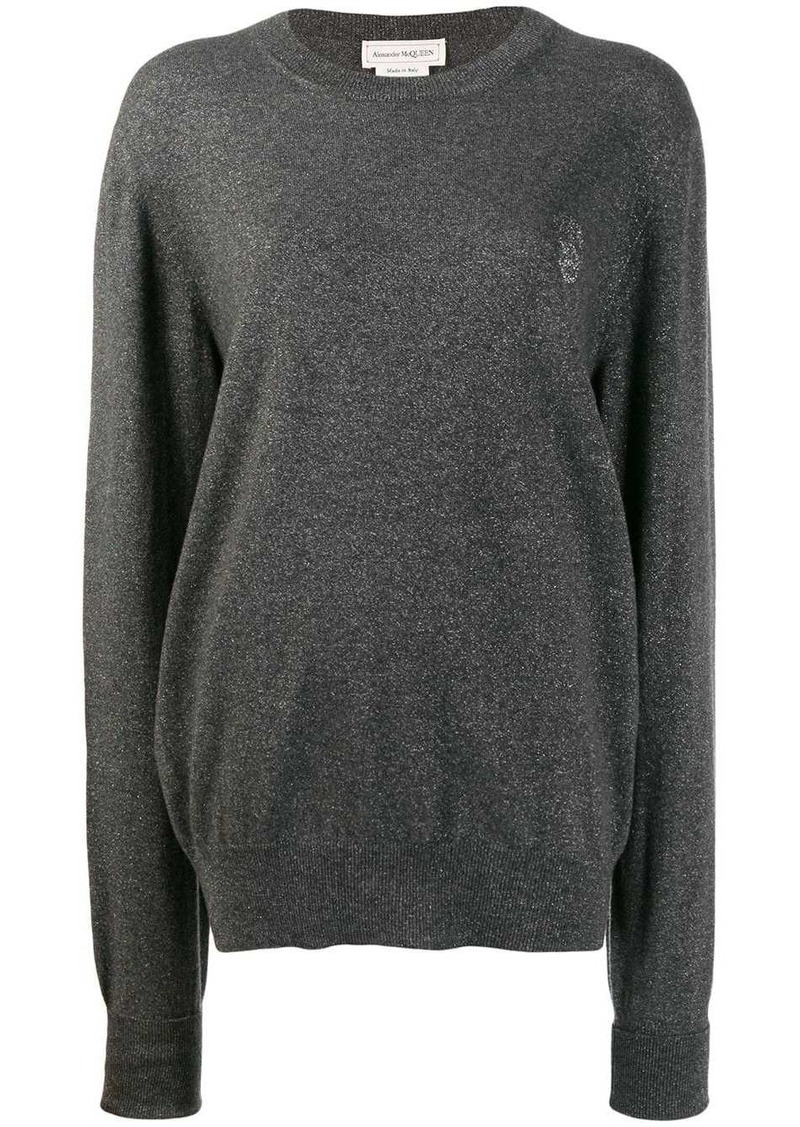 Alexander McQueen skull logo sweater