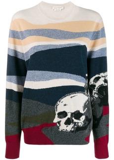 Alexander McQueen skull motif knit jumper