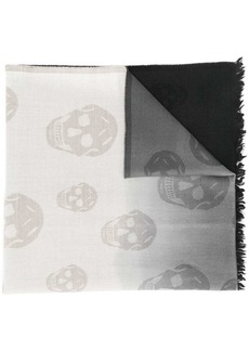 Alexander McQueen skull ombré scarf