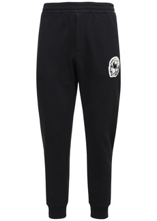 Alexander McQueen Skull Patch Cotton Sweatpants