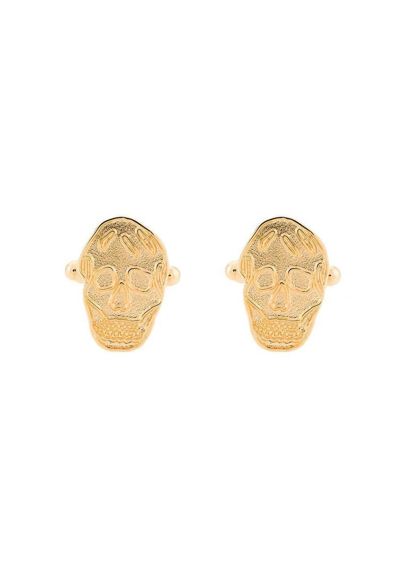 Alexander McQueen skull patterned cufflinks