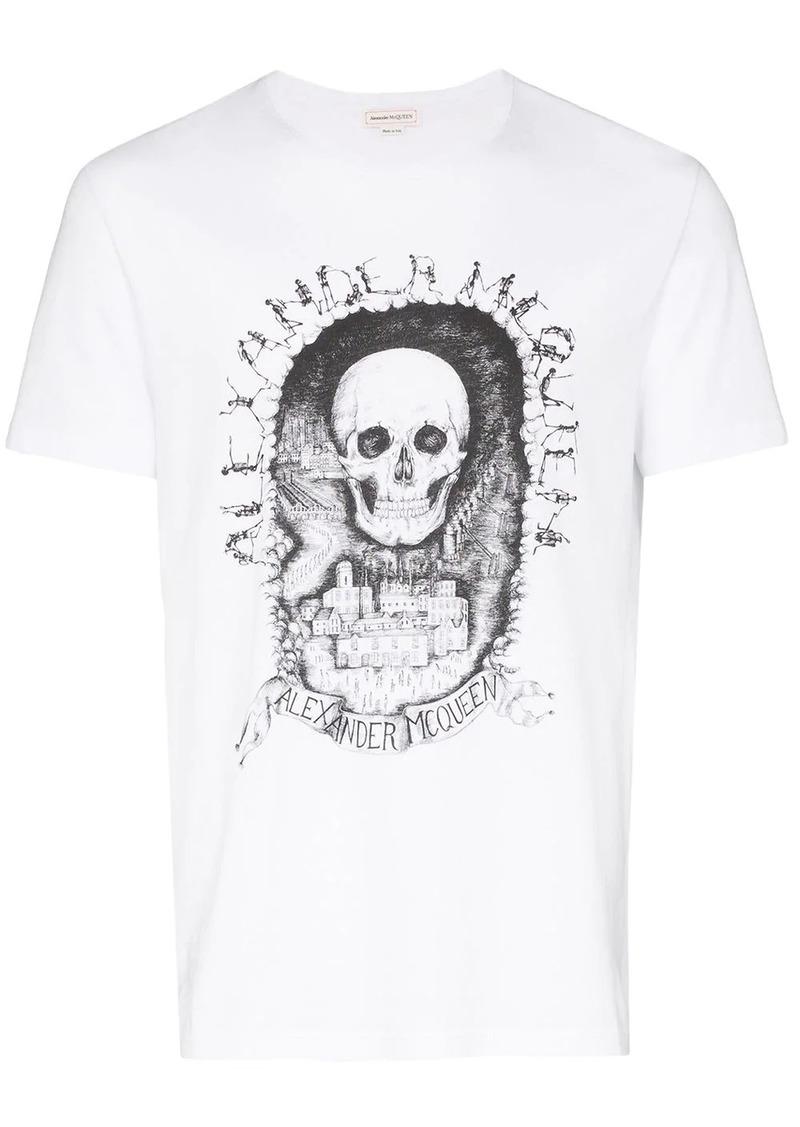 Alexander McQueen Skull print logo T-shirt