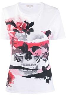 Alexander McQueen skull rose romantic T-shirt