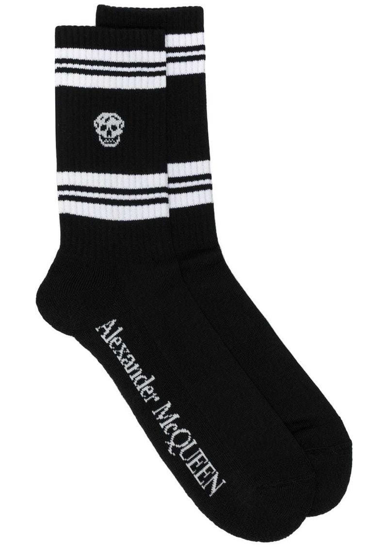 Alexander McQueen skull sport socks