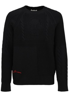 Alexander McQueen Skull Stitch Wool Knit Sweater