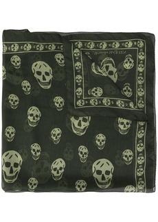 Alexander McQueen skulls printed scarf