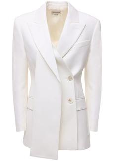 Alexander McQueen Slash Lapel Wool Jacket