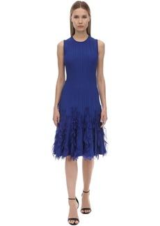 Alexander McQueen Sleeveless A Line Knit Midi Dress
