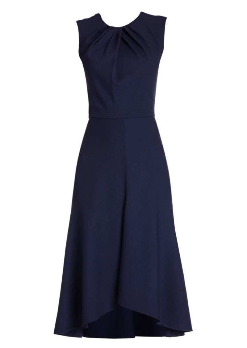 Alexander McQueen Sleeveless A-Line Crepe Dress