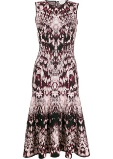 Alexander McQueen sleeveless jacquard dress