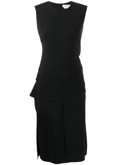 Alexander McQueen sleeveless panelled fitted dress