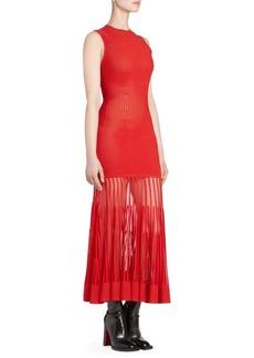 Alexander McQueen Sleeveless Rib-Knit Dress