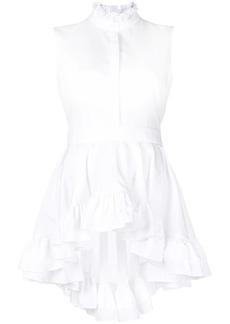 Alexander McQueen sleeveless ruffle blouse