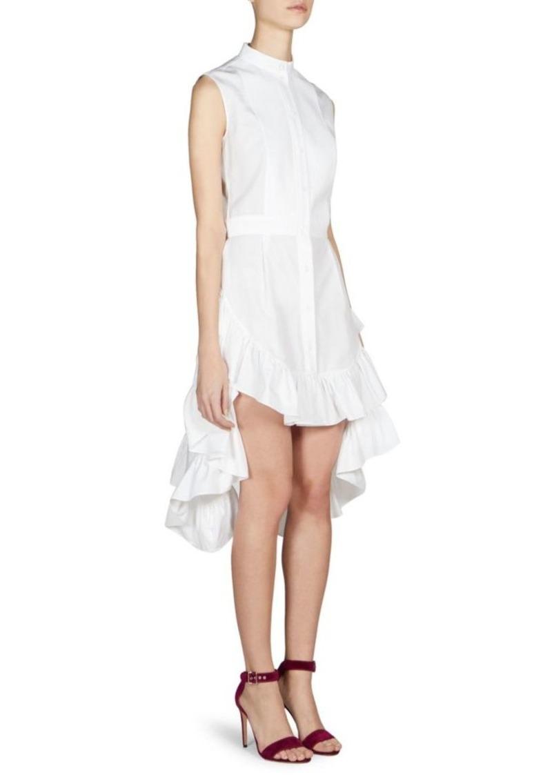 Alexander McQueen Sleeveless Ruffled Bustle Dress