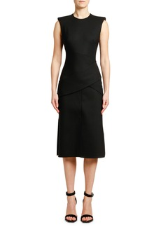 Alexander McQueen Sleeveless Slash-Cut Detail Dress