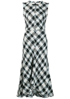 Alexander McQueen Sleeveless tweed dress